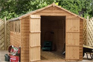 Waltons 10 x 8 Overlap Apex Garden Shed Video Tour