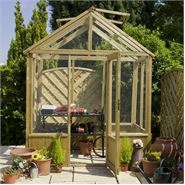 6 x 4 Waltons Pressure Treated Wooden Greenhouse