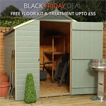 8 x 6 Waltons Ultra Value Tongue and Groove Apex Garden Shed