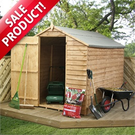 8' x 6' Ultra Value Overlap Apex Garden Shed