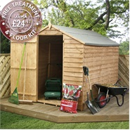 8' x 6' Waltons Ultra Value Overlap Apex Wooden Garden Shed