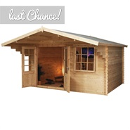 4m x 3m Waltons Greenacre Retreat Traditional Log Cabin