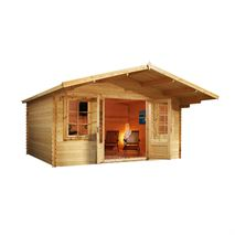 4m x 4m Waltons Haven Log Cabin