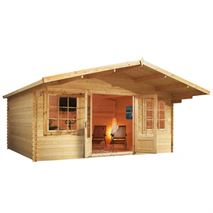 5m x 5m Waltons Haven Log Cabin