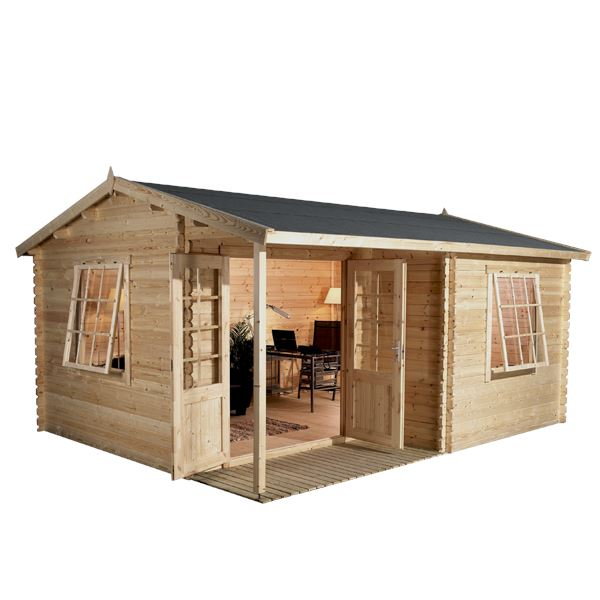 4m x 3m waltons greenacre home office executive log cabin for Home office cabins