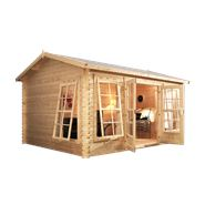 4.5m x 3.5m Waltons Greenacre Home Office Director Log Cabin
