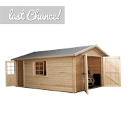 4.2m x 5.7m Waltons Greenacre Log Cabin Garage