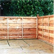 3ft x 6ft Waltons Horizontal Hit and Miss Garden Fence Panels