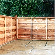 4ft x 6ft Waltons Horizontal Hit and Miss Garden Fence Panels