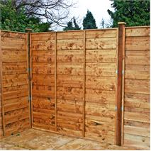 5ft x 6ft Waltons Horizontal Hit and Miss Garden Fence Panels