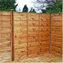 6ft x 6ft Waltons Horizontal Hit and Miss Garden Fence Panels