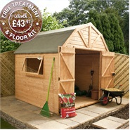10 x 8 Waltons Dutch Barn Tongue and Groove Apex Garden Shed