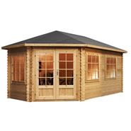5 x 3 Waltons Left Sided Greenacre Lodge Grande Corner Log Cabin