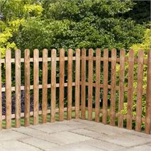 3ft x 6ft Waltons Picket Rounded Top Garden Fence Panels