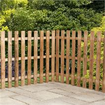 3ft x 6ft Waltons Picket Flat Top Garden Fence Panels