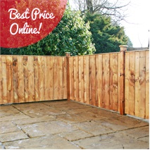 3ft x 6ft Waltons Vertical Feather Edge Garden Fence Panels