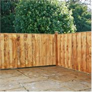 4ft x 6ft Waltons Vertical Feather Edge Garden Fence Panels