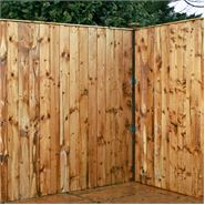 5ft x 6ft Waltons Vertical Feather Edge Garden Fence Panels