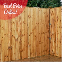 6ft x 6ft Waltons Vertical Feather Edge Garden Fence Panels
