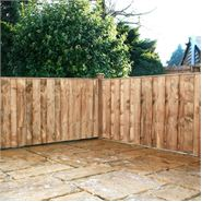 3ft x 6ft Waltons Vertical Hit and Miss Wooden Fence Panels