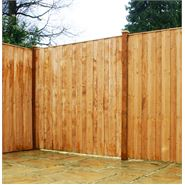 5ft x 6ft Waltons Vertical Hit and Miss Wooden Fence Panels