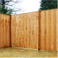 6ft x 6ft Waltons Vertical Hit and Miss Wooden Fence Panels