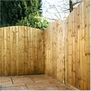 6ft x 6ft Waltons Pressure Treated Curved Feather Edge Fencing