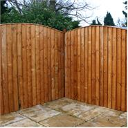5ft x 6ft Waltons Vertical Feather Edge Curved Wooden Fence Panels