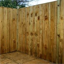 6ft x 6ft Waltons Pressure Treated Vertical Hit and Miss Fencing