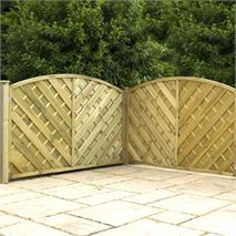 "4ft x 5'11"" Waltons PT Curved Chevron Weave Garden Fencing"