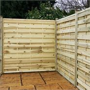 "5ft x 5'11"" Waltons Pressure Treated Horizontal Weave Garden Fencing"