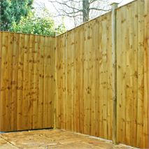 6 x 6 Waltons Pressure Treated Feather Edge Flat Top Fencing
