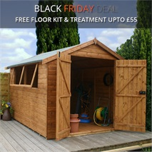 10 x 8 Waltons Groundsman Tongue and Groove Apex Garden Shed
