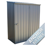 "5' x 2' 7"" Waltons Titanium Easy Build Pent Metal Shed"