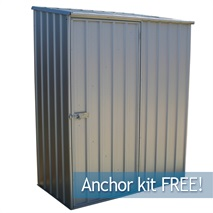 5ft x 2ft 7  Waltons Titanium Easy Build Pent Metal Shed