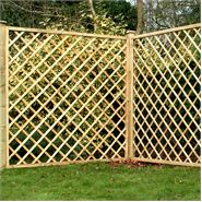 "5'11"" x 5'11"" Waltons Pressure Treated Diamond Trellis Fencing"