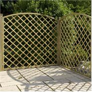 "5'11"" x 5'11"" Waltons Pressure Treated Convex Diamond Trellis Fencing"
