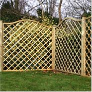 "5'11"" x 5'11"" Waltons Pressure Treated Wavey Diamond Trellis Fencing"