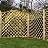 Pressure treated wavey diamond trellis