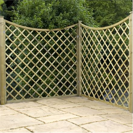 6ft Pressure Treated Concave Diamond Trellis