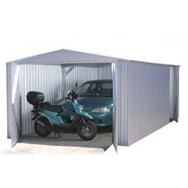 9ft 10  x 19ft 8  Waltons Titanium Easy Build Apex Metal Garage