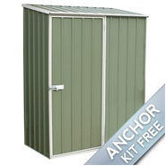 "5' x 2' 7"" Waltons Pale Eucalyptus Easy Build Pent Metal Shed"