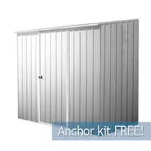 7ft 5  x 5ft Waltons Titanium Easy Build Pent Metal Shed