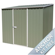 "7' 5"" x 5' Waltons Pale Eucalyptus Easy Build Pent Metal Shed"