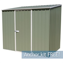 7ft 5  x 5ft Waltons Pale Eucalyptus Easy Build Pent Metal Shed