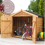 7 x 3 Waltons Overlap Apex Wooden Bike Shed
