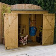 "The 6' x 2'6"" Value Overlap Modular Pent Storage Shed"