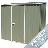 "7' 5"" x 2' 7"" Waltons Pale Eucalyptus Easy Build Pent Metal Shed"