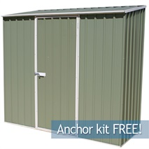 7ft 5  x 2ft 7  Waltons Pale Eucalyptus Easy Build Pent Metal Shed