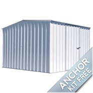 2.26m x 3m Waltons Titanium Easy Build Metal Shed